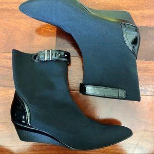 Circa Joan & David Black Heeled Boots CJGlaze 7.5
